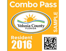 "2016 Annual Resident ""Combo"" Pass for the Beaches & Inlet Parks"